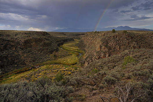 Rainbow Over The Rio Pueblo by Ron Cline