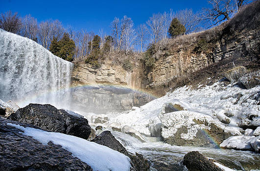 Rainbow over the Webster's Fallslls by Luba Citrin