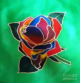 Rainbow Rose by Dye n  Design