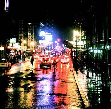 Rainy Boston Night by Natalia Radziejewska