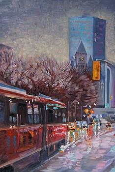 rainy evening in Toronto by Efim Melnik