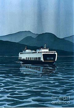 Rainy Ferry by Scott Nelson