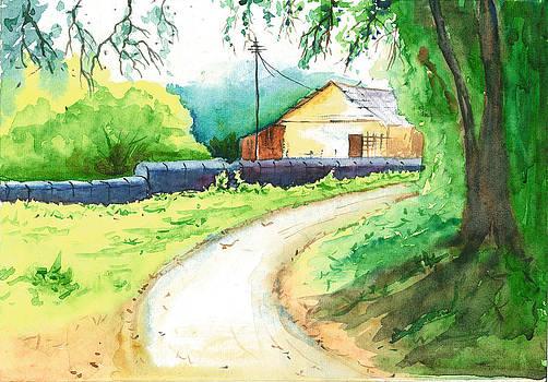 Rainy Season Landscape by Vijayendra Bapte