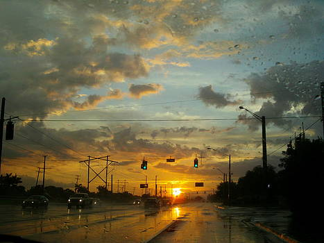 Rainy Sunset by Lisa Pedro