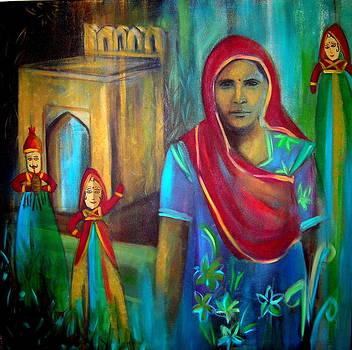 Rajasthani Lady by Romi Soni