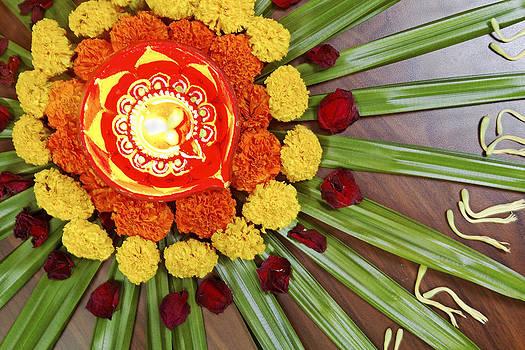 Kantilal Patel - Rangoli Floral Design