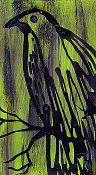 Raven on a Branch by Nancy Mitchell
