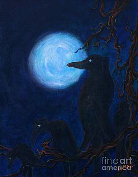Ravens in Moonlight by William Bezik