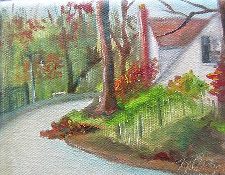 Ravine in Autumn II by Maria Milazzo