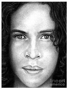 Ray Toro Pencil Drawing by Debbie Engel