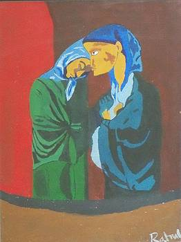 Re-creation of Pablo Picasso's Visit-Two Sisters. 1902 by Rahul Narasimhan