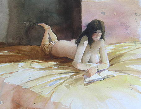 Reading In Bed by Richard Yoakam