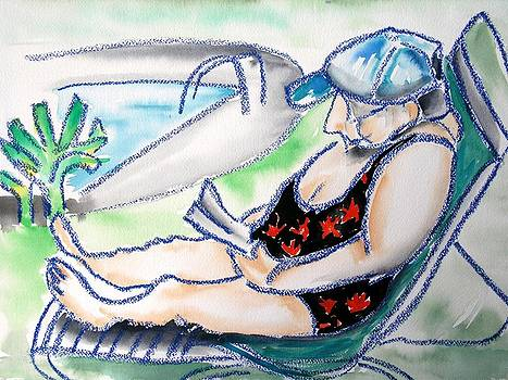 Reading Pool Side by Peggy Mars