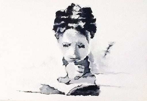 Reading Woman III by Graciela Scarlatto