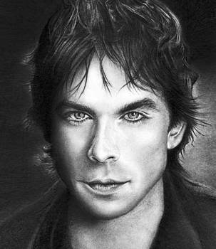 Realistic pencil drawing of Ian Somerhadler  by Debbie Engel