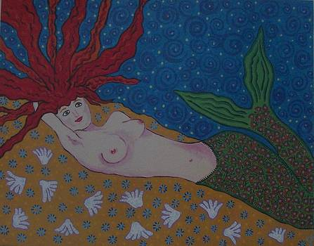 Reclining Mermaid by Debbie Talman