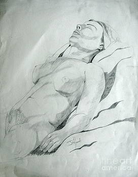 Reclining Nude by Julie Coughlin