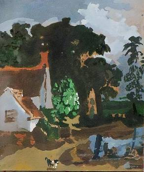 Recreation of art work made by John Constable - Willy Lott's Farm. 1810  by Rahul Narasimhan