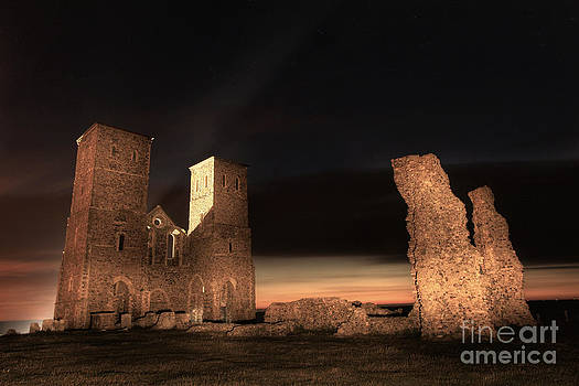 Reculver Towers by Night by Lee-Anne Rafferty-Evans