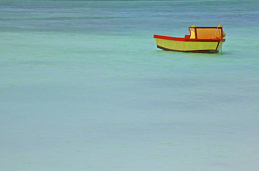 David Letts - Red and Yellow Fishing Boat of the Caribbean
