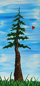 Red Balloon by Heather  Hubb