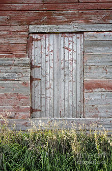 Red Barn Door by Glennis Siverson
