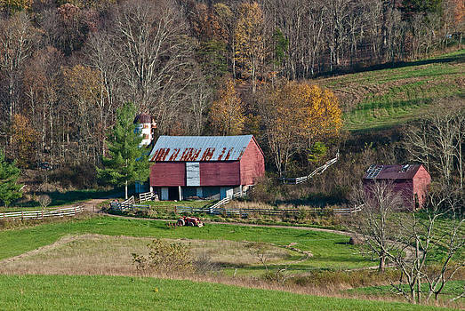 Red Barn in West Virginia by Donna Harding