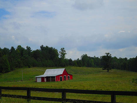 Red Barn by Victoria Ashley