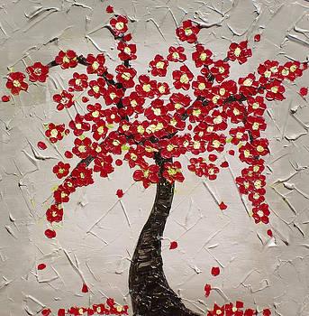 Red Blooms by Karolina Olszewska