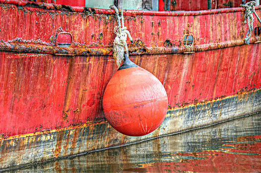 Red Boat with Bumper by Lynn Jordan
