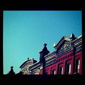 Red Building Blue Sky by Fern Fiddlehead