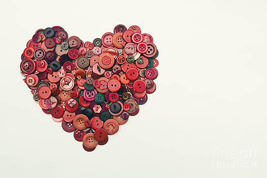 Red Button Heart by Catherine MacBride