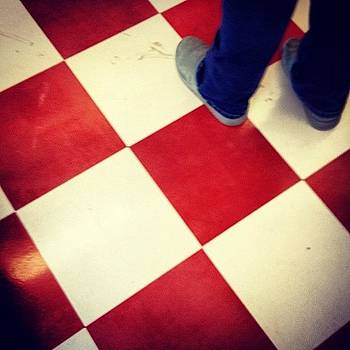 Red Checkerboard by Denise Taylor