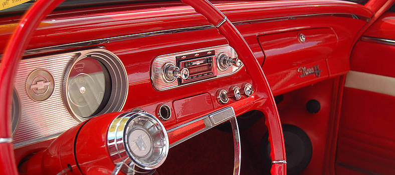 Red Chevy Ii by Gabe Arroyo
