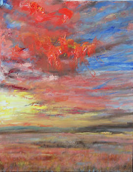Red Clouds by Linda Woolven
