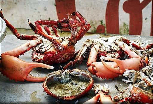Red crabs by Janet G T