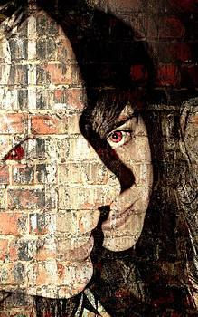 Red eye in wall by Elena V