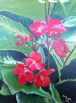 Red Flowers by Jan Fink