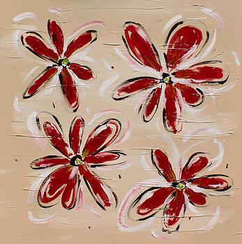 Red Flowers by Karolina Olszewska