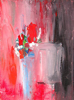Tonya Schultz - Red Flowers Red Wall
