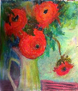 Red Flowers by Semla Suliaman