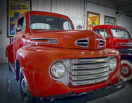 Red Ford Pickup by Steve Benefiel