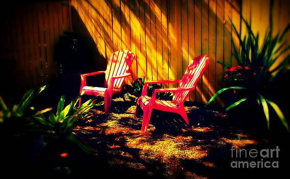 Susanne Van Hulst - Red Garden Chairs