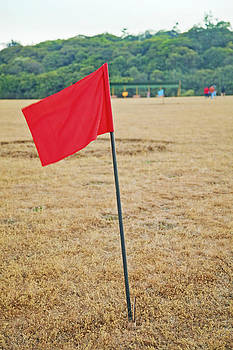 Kantilal Patel - Red Golf Marker Flag
