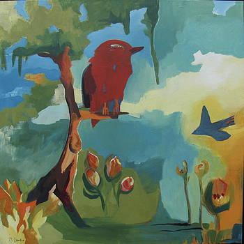 Red Hawk Willow Tree by Noel Sandino