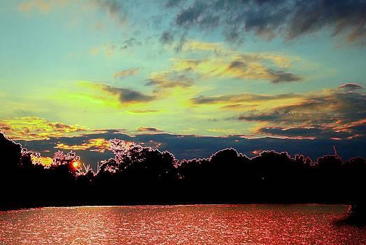 Red Lake Blue Sky by J R Seymour