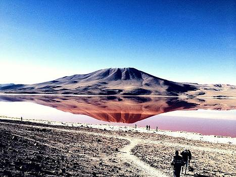Red Lake Reflection by Jade Sayers