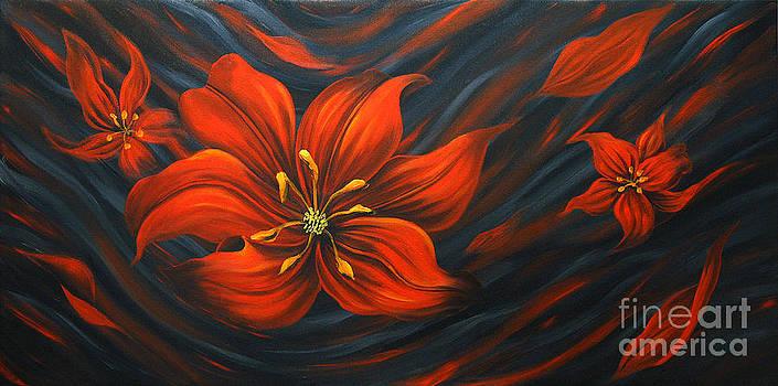 Red Lily by Uma Devi