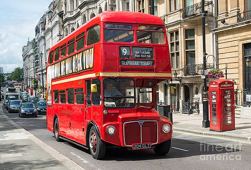 Red London Bus by Andrew  Michael
