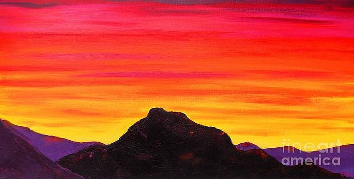 Red Mountain Sunrise by S J Killian